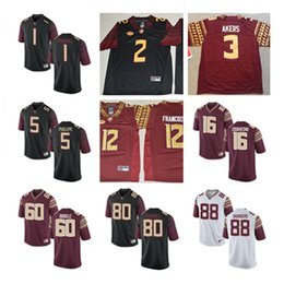 Wholesale Deion Sanders Florida State - Mens FSU Cam Akers College Football Jerseys Deion Sanders J.J. Cosentino Deondre Francois NCAA ACC Florida State Seminoles Jersey S-3XL