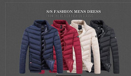 Wholesale Men S Feather Jackets - Wholesale- Winter Down Jacket Men 2016 New Brand Men Stand Collar Made of Goose Feather Thick Coat Men's Parkas Homme