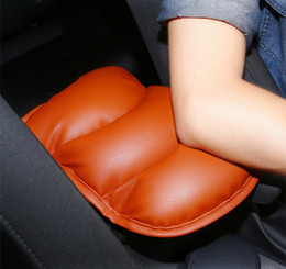 Wholesale center console box - PU Leather Car Universal Auto Armrests Covers Vehicle Center Console Armrests Box Heighten Pads Protective Case Car Accessories