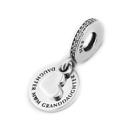 Braccialetto d'argento tre cuori online-Autentico argento sterling 925 tre generazioni pendenti perline cuore famiglia per monili che fanno adattarsi braccialetti di fascino originali gioielli fai da te diy