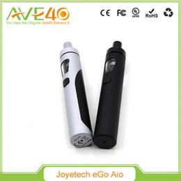 Wholesale Design Ego Batteries - Authentic Joyetech eGo AIO Kit All-in-one Design 2ml 1500mAh Battery vs Kanger Subvod Eleaf iJust Kit Vape Mods