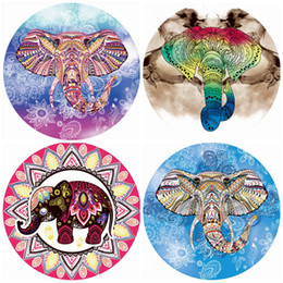 Wholesale Mat For Beach - Fashion Beach Towel Elephant Shape Tapestry Summer Women Printing Shawl For Many Styles Round Yoga Mat 16ag J C