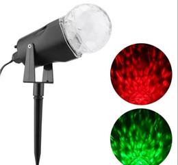 Wholesale Christmas Lightings - Led Rotating Projection Light with Flame Lightings Spotlight Outdoor Christmas Projector Light Night Light Water wave lamp Lawn Lamp LLFA
