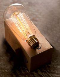 Wholesale Antique Ship Lights - 1910 Antique Vintage Edison light Bulb 40W 110v 220V radiolight T64 Squirrel cage Wholesale FREE SHIPPING