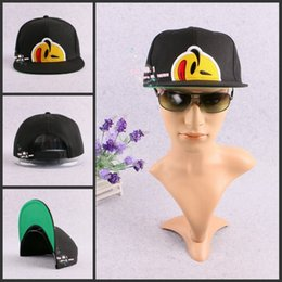 Wholesale Snapback Hat Yums - Wholesale-2016 yums face cap smile snapback smiling face cap adjustable popular hats fashion women's mens baseball hat