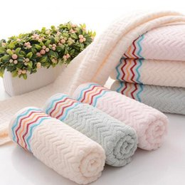 Wholesale Baby Blanks - Chevron Hand Towel Wholesale Blanks Cotton Material Baby Towel Beach Towel in Three Colors Free Shipping Via FedEx DOM1068087