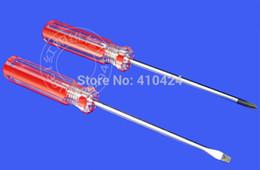 Wholesale Mini Slot Screwdriver - wholesale 2PCS Practical Mini Screwdriver CRV 3*75MM Cross and Slotted Screw Driver