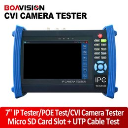 "Wholesale Cctv Camera Cable Tester - 7"" IP Camera CCTV Tester Monitor OSD Menu For HD 720P 1080P IP Or HDCVI Or Analog Camera Testing Cable Scan Onvif POE Output PTZ Controller"
