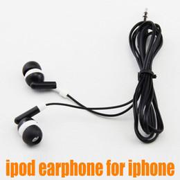 Wholesale New Design Mini Mp3 - New Novel design 3.5mm Colorful MINI In-earphone for IPOD  MP3  MP4  Mobile Phone 6 colors 20pcs up