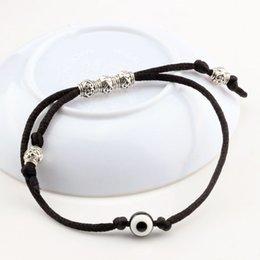 Wholesale Eye Protection Bracelets - Hot ! 30pcs Adjustable kabbalah black String Bracelet Resin EYE Bead black Protection Health Luck Happiness