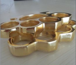 Wholesale Silver 12mm - new 1pcs THICK THICK 12mm BRASS KNUCKLES KNUCKLE DUSTER Gold silver free shipping