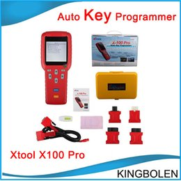 Wholesale Mitsubishi Remotes - Genuine Xtool X100 Pro Auto Key programmer Online Update X-100 Pro immobilizer remote control matching tool DHL Free Shipping