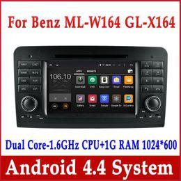 Wholesale Mercedes Ml Dvd - Android 4.4 Car DVD GPS Navigation for Mercedes Benz GL   ML W164 ML300 ML350 ML450 ML500 w  Radio BT USB SD 3G WiFi Audio Stereo Head Unit