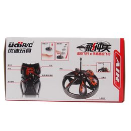 Wholesale Remote Control Flying Ufo - Wholesale-RC helicopter Udirc U808 RC Drones Quadcopter UFO infrared radio remote control helicopter RTF ready to fly Free shipping
