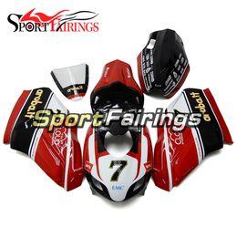 Wholesale Motorcycle Race Bodywork - Red White Injection Fairings For DUCATI 999 749 999s 749s 05 06 2005 2006 Motorcycle Fairing Kit Bodywork Fiberglass Racing