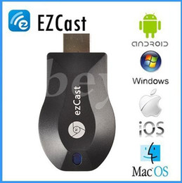 Wholesale Dlna Wifi Dongle - New Anycast M2 Plus DLNA Airplay WiFi Display Miracast Dongle HDMI Multidisplay 1080P Receiver AirMirror Mini Android TV Stick Better ezCast
