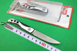 2019 coltelli boker Lupo 1863 piccolo coltello pieghevole, lama 440C 56HRC, punto goccia, raso, coltelli da tasca EDC coltelli boker economici