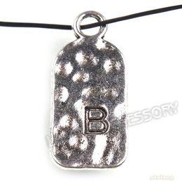 Wholesale B Letter Pendant - Recommend ! 72pcs lot Vintage Silver Plated Letter B Zinc Alloy Pendant & Charms Accessories Jewelry 27*12*1mm 141478
