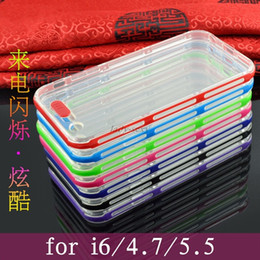 Wholesale E5 Led - 240pcs LED Flash Incoming Call Light ultra-thin Clear cases for iphone 6 plus 5s samsung s6 edge s5 note4 E7 E5