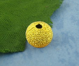Wholesale Wholesale Stardust Beads 6mm - 2015 New 150PCs Gold Plated Stardust Ball Spacer Beads 6mm Dia Free Shipping