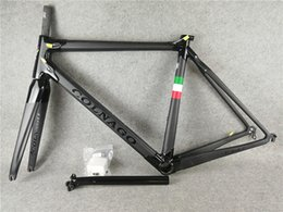 Wholesale Carbon Road Bike Frame Xs - 3K Matte-Glossy with BOB Black on Black Colnago carbon bike Frameset C60 carbon road frame BB386 XS-S-M-L-XL for selection free shipping