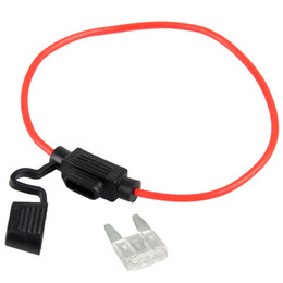 Wholesale 12v 25a - 1Pc In-Line Car Mini Blade Fuse Holder Waterproof 16AWG 25A 12V 24V 32V DC VE108 W0.5