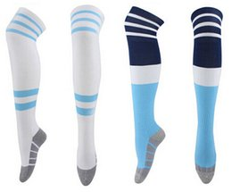 Wholesale Stocking Football Socks - Top Quality 2015 16 Argentina soccer socks Argentina away socks Argentina MESSI Aguero soccer socks football stocking with free shipping
