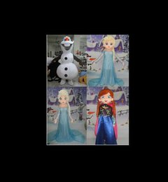 Wholesale Ice Mascot - frozen Special Anna Mascot Costume Elsa Olaf Figure Ice Character cartoon Fancy Dress