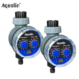 water timer garden irrigation controller Promo Codes - arden irrigation controller 2pcs Aqualin Ball Valve Automatic Electronic Water Timer Home Garden Irrigation Controller Watering Timer Sy...
