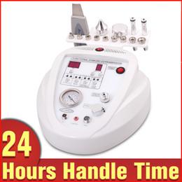 Wholesale Portable Ultrasound Ultrasonic - Portable 3-1 Skin Peeling Scrubber Diamond Dermabrasion Scar Removal Microdermabrasion Ultrasound Ultrasonic Beauty Machine On Sale
