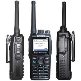 Wholesale Digital Walkie Talkies - KYD DMR DM-880 Dual Band Walkie Talkie UHF Ham radios Digital Handheld Two Way Radios 512chs CB radio Motorola DMR Licensees USB Cabel