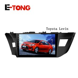 Wholesale Corolla Radio Bluetooth - Quad core 10.1 Inch Android car radio gps player for toyota levin corolla 2013 2014 2015 with wifi bluetooth mirror link 3G USB No Car DVD 3