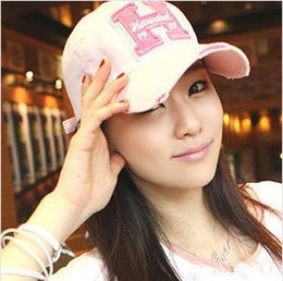 Wholesale Korean Fashion Wear For Summer - Wholesale-Korean Brief And Casual Worn Out Baseball Caps Fashion Letter Summer Hat For Sun FT2015074