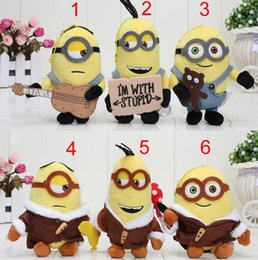 Wholesale Minion Plush Toy Small - 2015 Despicable Me 3 Minions Bob Soft Stuffed Plush Small pendant Doll For Kid Toy Gift 1206#06