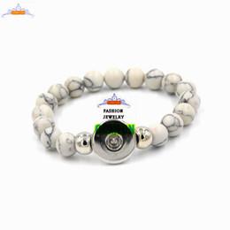 Wholesale Shamballa Plastic - Natural stone bracelet,Handmade Shamballa snap buttons Bracelet, Gift for Him, Beaded Bracelet Button,bracelets for women