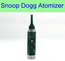 Wholesale Dry Herb Tips - Snoop Dogg ecig atomizer - DHL 7 colors electronic cigarette ecig vaporizer wax dry herb vapor pen kit herbal mouth tip 510 thread