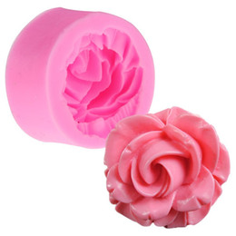 Wholesale Rose Fondant Cutter - Rose Flower Silicone Cake Mold Baking Chocolate Fondant Cake Sugarcraft 3D Cutter DIY Christmas Kitchen Tools Free Shipping