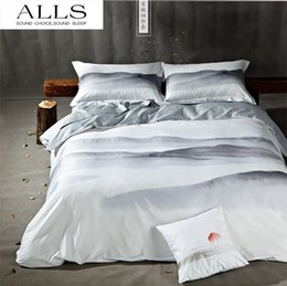 Wholesale Satin Egyptian Cotton Duvet Sets - High Quality 100% cotton satin fabric couvre lit Duvet cover bed sheets wash paiting egyptian cotton bedding sets king size