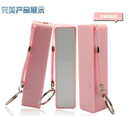 Wholesale external battery for iphone 4s - Wholesale 2600mAh Perfume Phone Power Bank Emergency External Battery Charger panel USB for iphone 7S 5 4S 4 Galaxy S3 S4