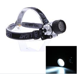Wholesale 21 Led Flashlight - New Arrival! 21 LED 4 Mode Headlamp Head Light Lamp Flashlight Hiking Camping Night Fishing Waterproof