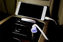 Wholesale One Piece Ipad - High Quality Micro Auto Universal Autobot Dual USB Car Charger For iPad iPhone 5V 2.1A Mini Adapter Short Circuit Protection One Piece