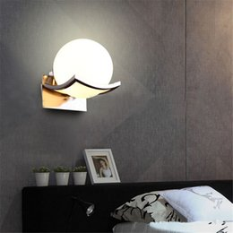 Wholesale Unique Wall Lights - Unique and Novelty Led Wall Lamps Glass Ball Wall Lights for Home E27 AC110V 220V Single Ball Wall Lamp White Warm White Bedroom Living Room
