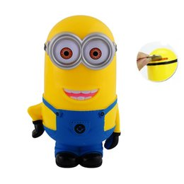 Wholesale Saving Toys - Free Shipping Minion Lovely 3D Minions Figures Piggy Bank Money Box hucha Saving Coin Cent Penny Toy alcancia Baby toy