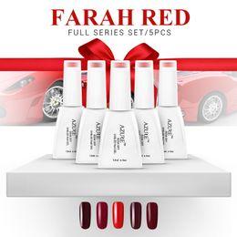 Wholesale Nail Varnish Gel - Nail Gel Polish UV&LED Shining Colorful Farah Red Series soak off Varnish elegant Manicure nail gel Xmas gift