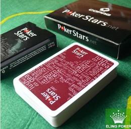 Color plastic cards online-2015 HOT PVC color rojo y negro Póquer para Choosen y plástico jugando a las cartas estrellas de póquer