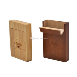 Wholesale Wooden Cigarette Box - KKDUCK Wood Cigar Box Wooden Cigarette Case Storage Natural Color High Grade Quality 95*65*18MM Hot Selling