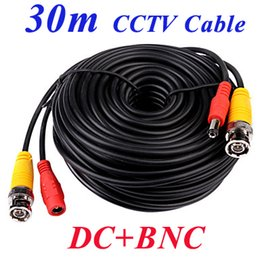 Wholesale Power Install - 5m 10m 20m 30m 40m 50m 50ft 100ft 164 ft DC BNC port video power supply cctv coaxial cables security camera DVR install surveilllace wires