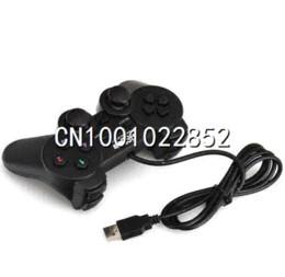 Wholesale Double Joystick Game Joypad - Double Shock USB GamePad Game Controller JoyPad for PC Computer Joystick Free Shipping 80825 control clutch
