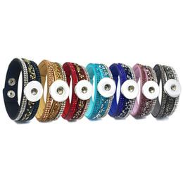 Rock-Stil 7 Farben 226 Korean Samt Strass Retro Mode Charme Link Armband Druckknopf Schmuck für Frauen Männer passen 18mm Knopf von Fabrikanten