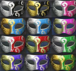 Wholesale Half Silicone Masks - 2015 new arrive Masquerade Mens Masks Halloween Christmas Masquerade Masks Venetian Dance party Mask Men mask D151
